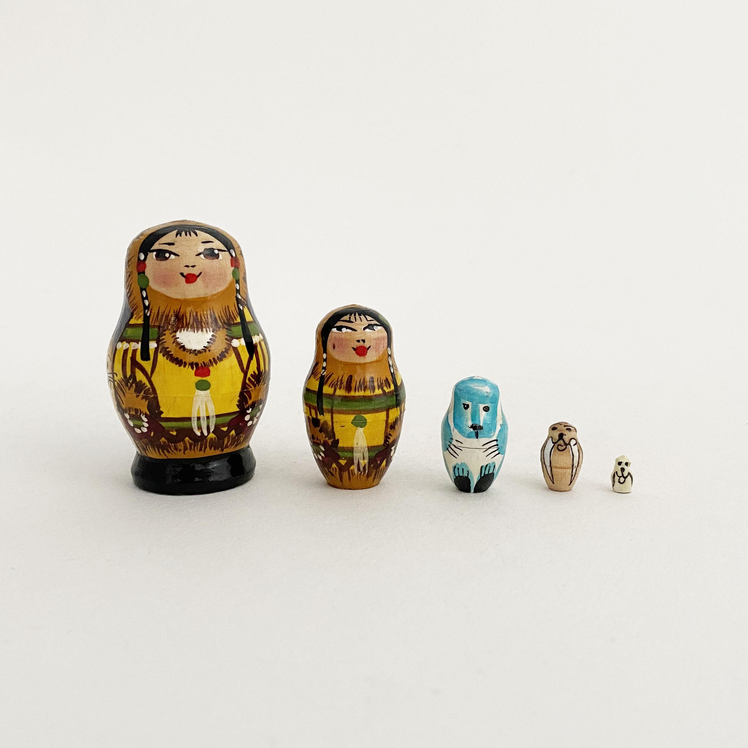 ミクロサイズマト / 北方先住民族(5個組)