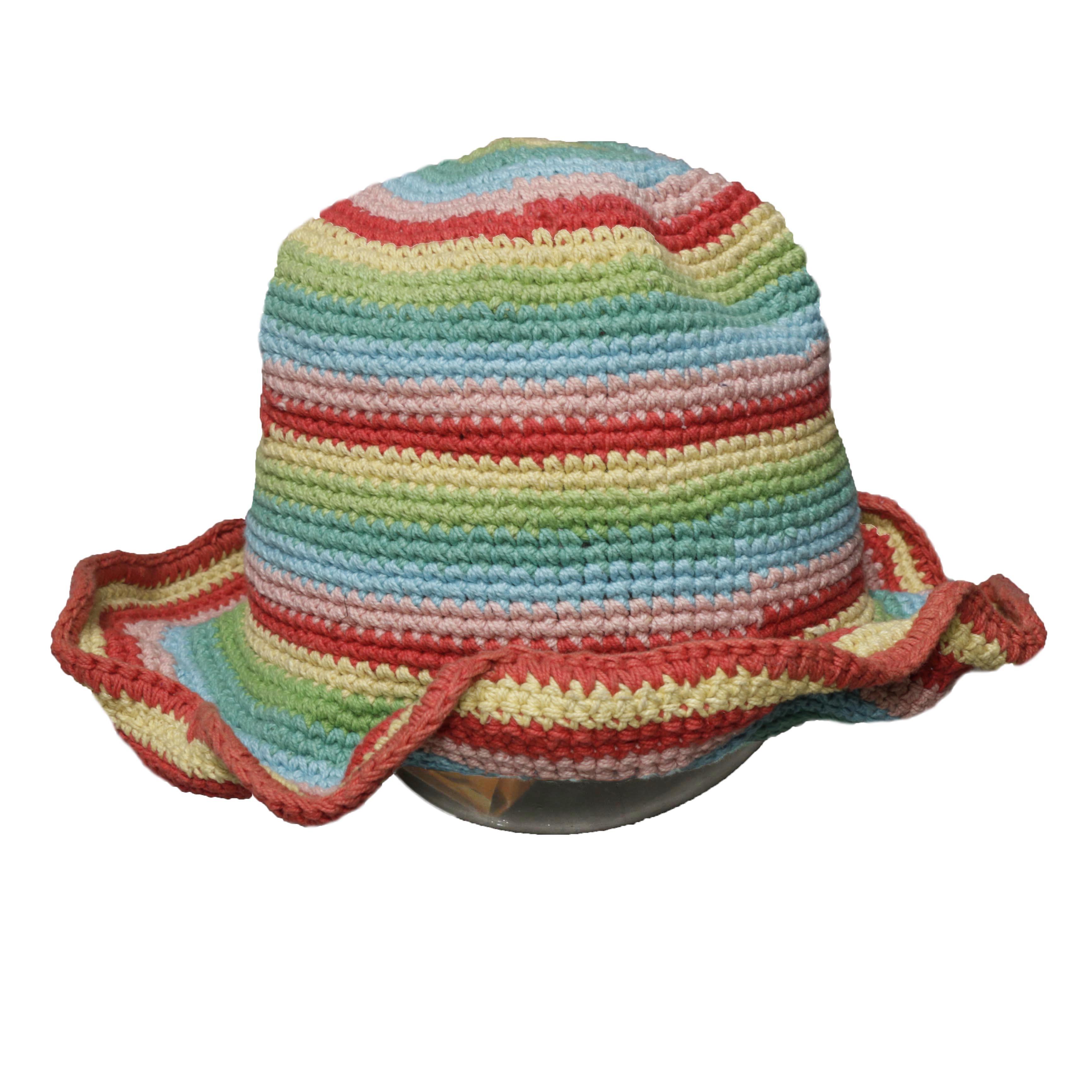 MultiBorder Knit TulipHat