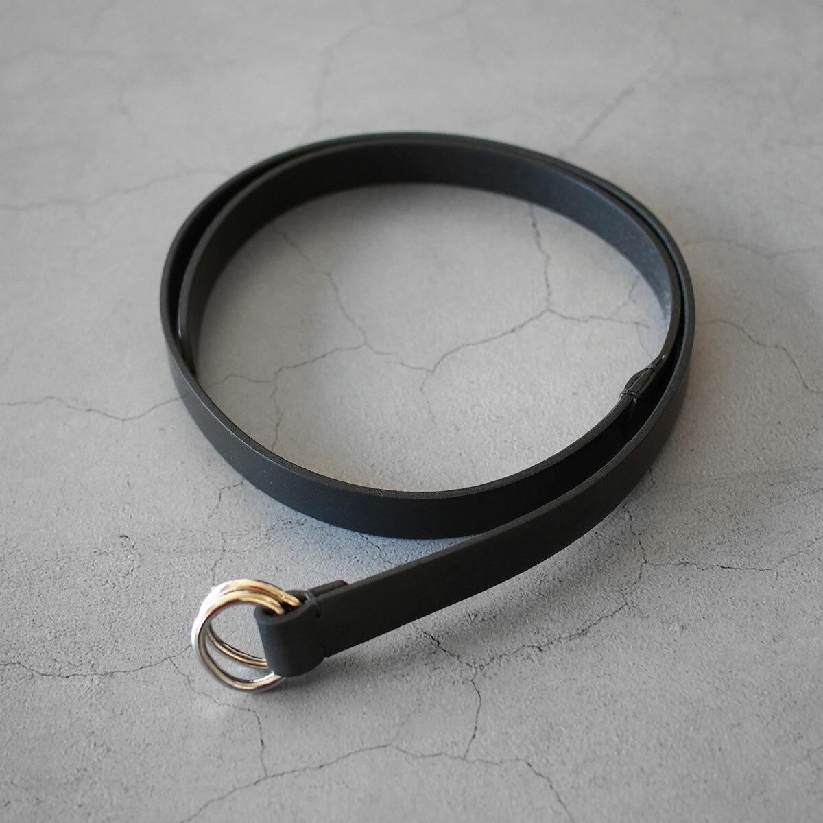 Aeta OVAL RING BELT BLACK