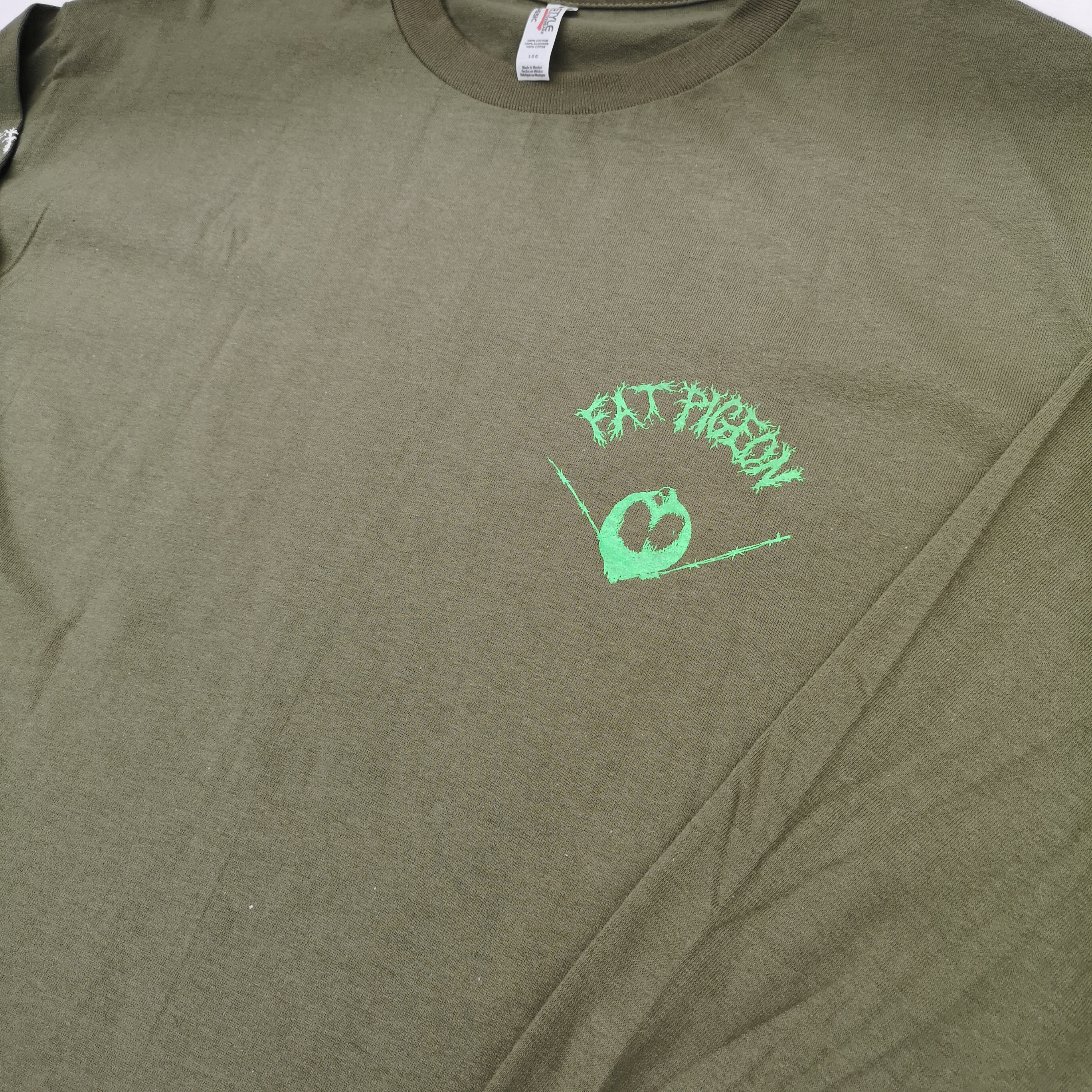 FAT PIGEON RECORDS LONG TEE