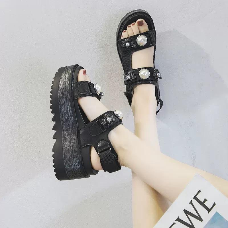 pearl plat form sandals