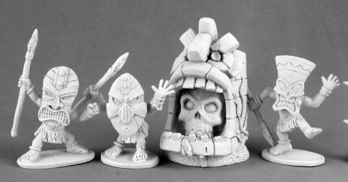 仮面の小人族と神像(4体) - 画像3
