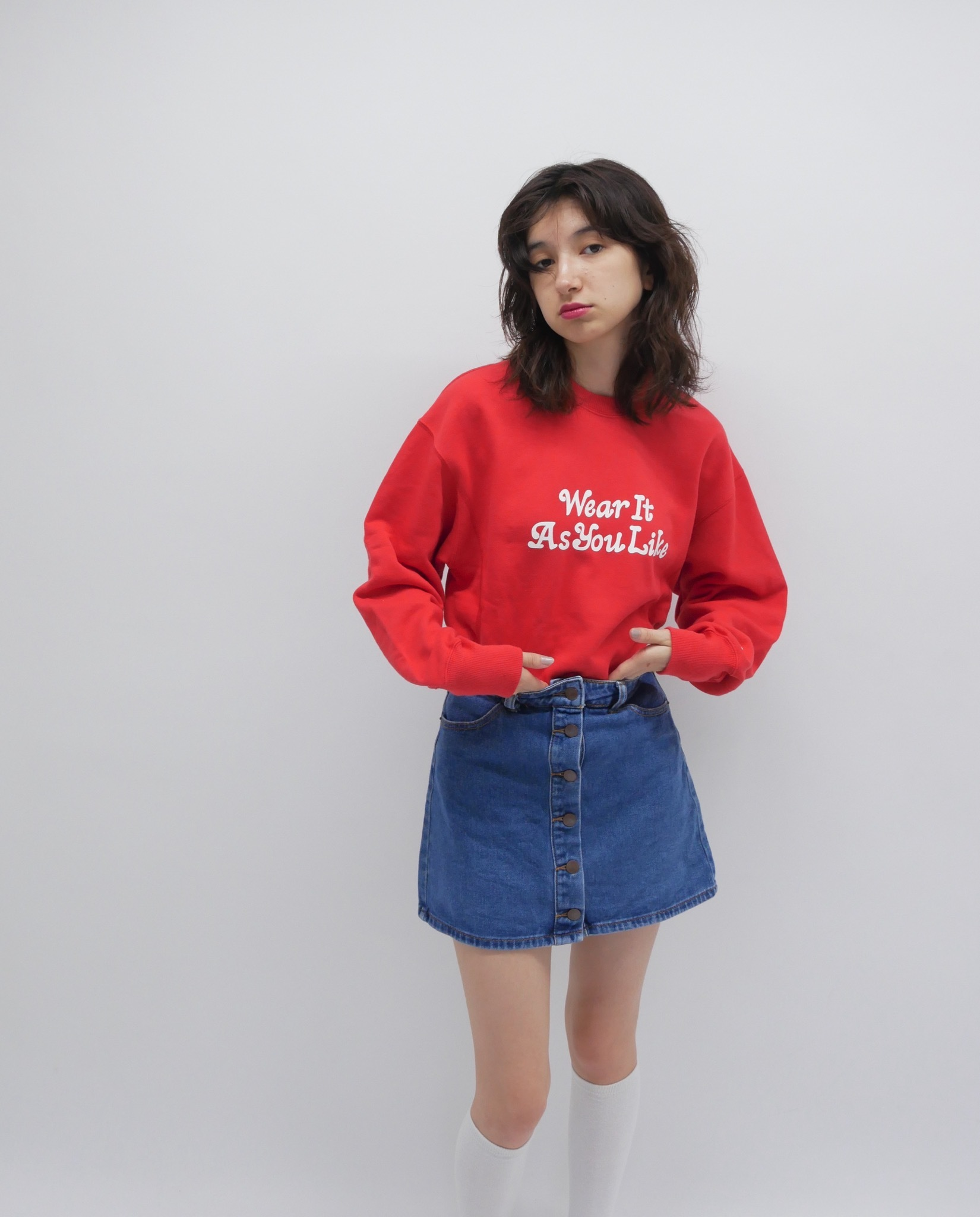 Red KissMeLove sweat