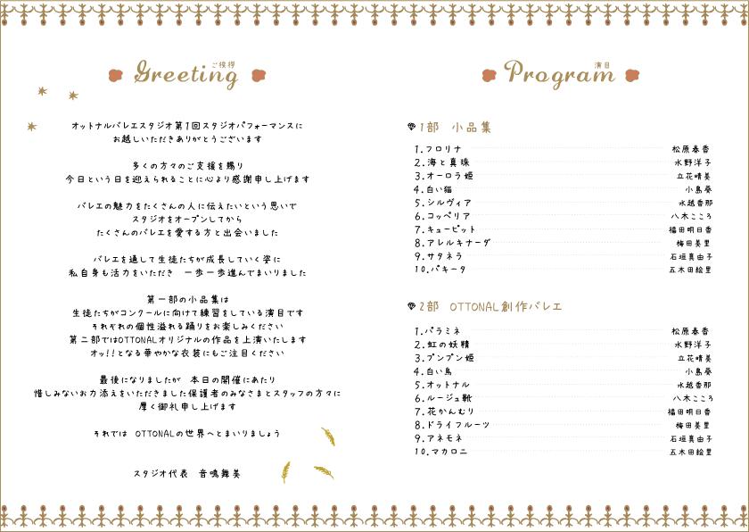 プログラム デザインオーロラ (A5(4ページ)折 紙135kg 100部フルカラー) - 画像3