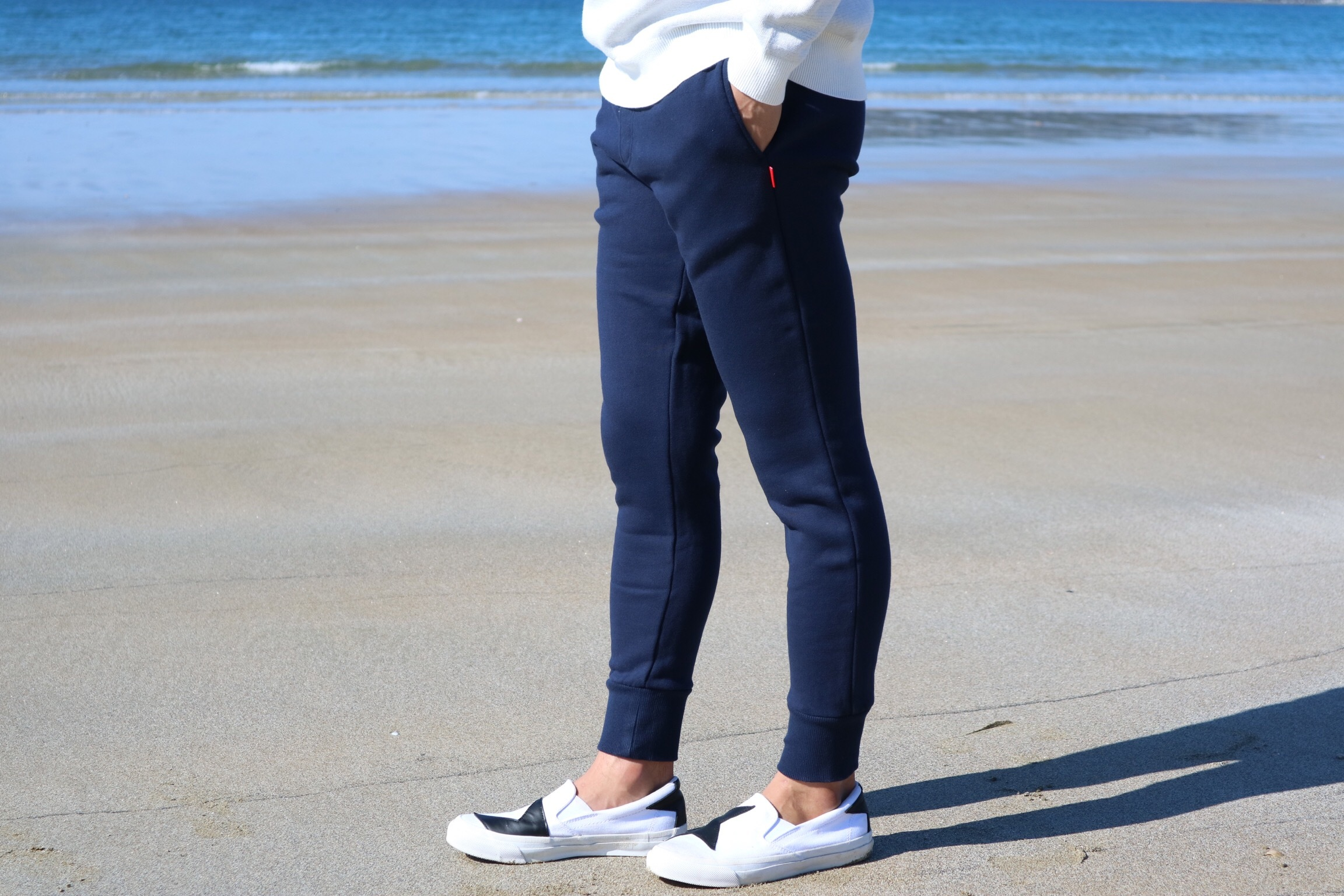 ThreeArrows skinnyスウェットパンツ(navy)