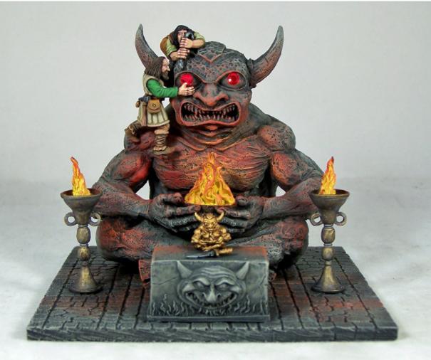 宝石の眼を持つ悪魔の彫像 - 画像2