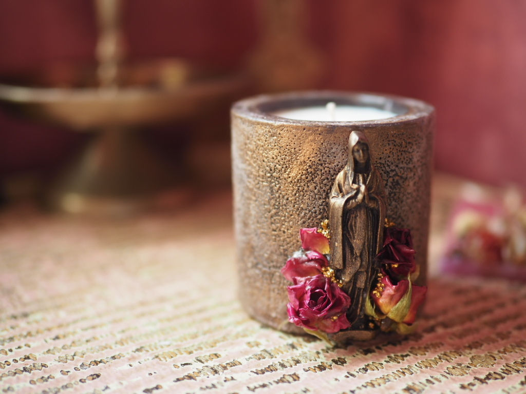 Vintage Maria Candle 11