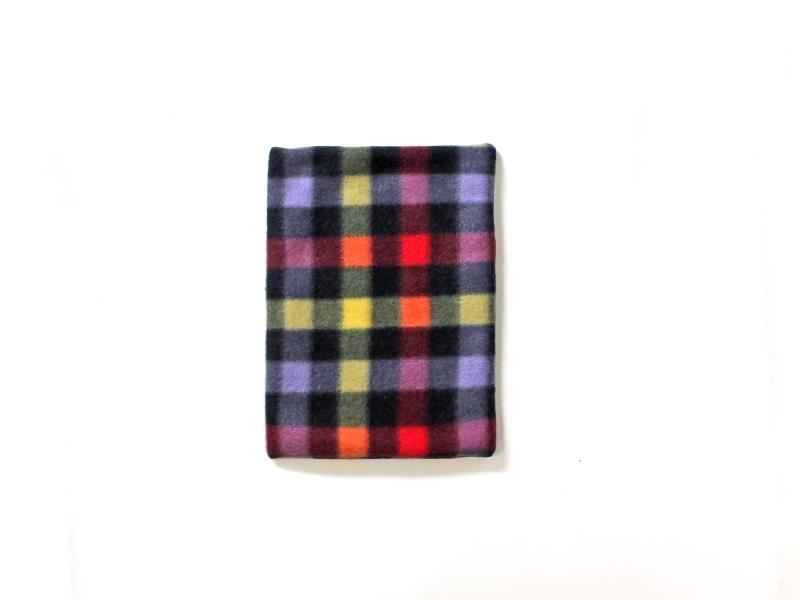 ハリちゃんのおざぶとん チェック ブラック / Small Soft Mat for Hedgehog