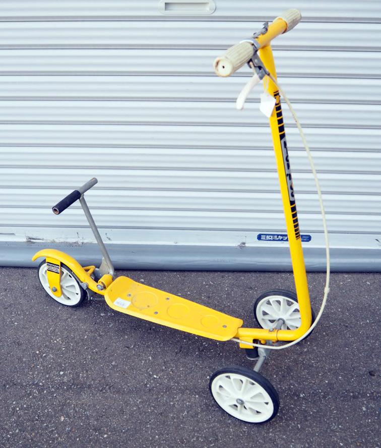品番1988 3輪キックボード HONDA ローラースルー GOGO KICK 'N GO  イエロー ヴィンテージ 1970's 011