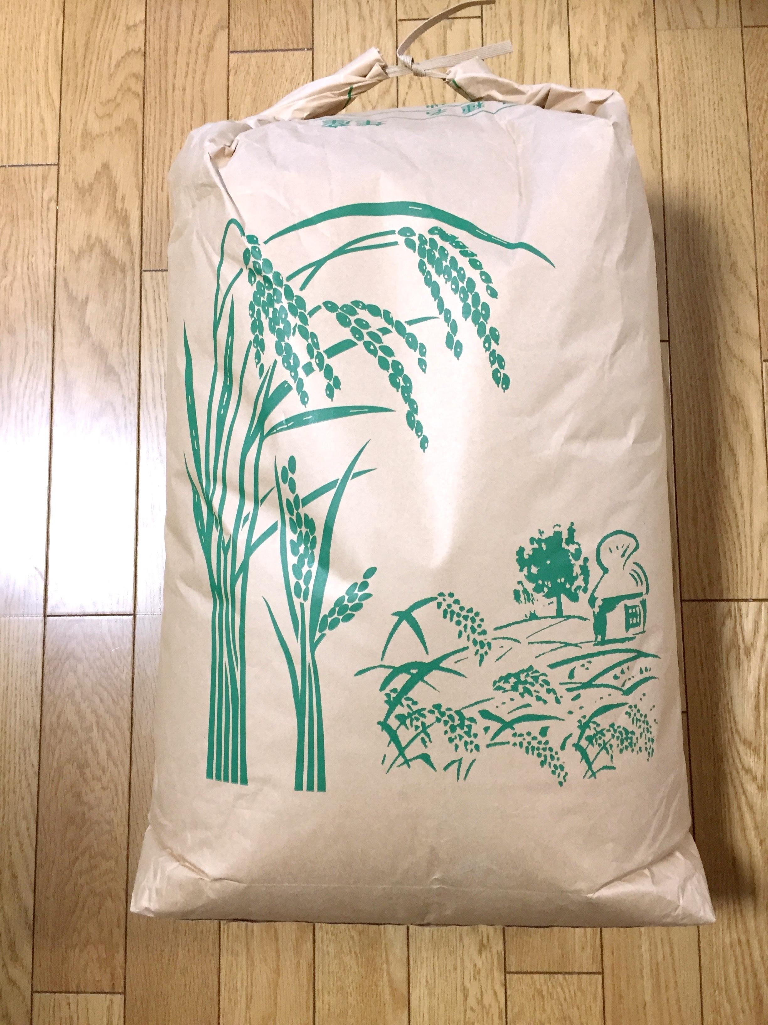 松葉家で収穫した 美味しいお米(玄米)30kg 減農薬栽培米