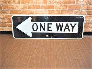品番0725 サインボード ONE WAY 看板 矢印 011