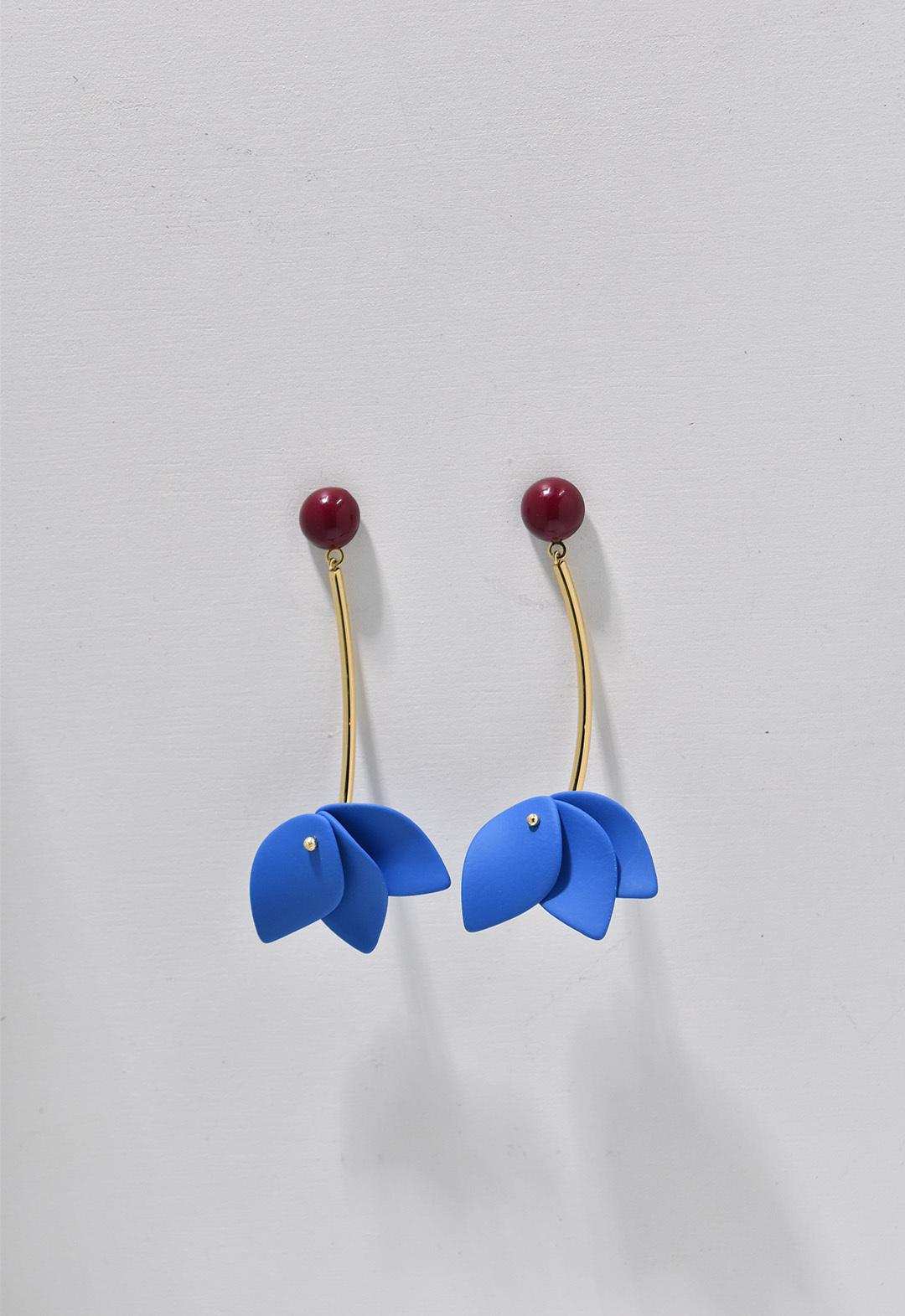 blooming flower pierce Blue