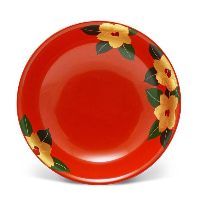 手塩皿4.0洗朱つばき(2)