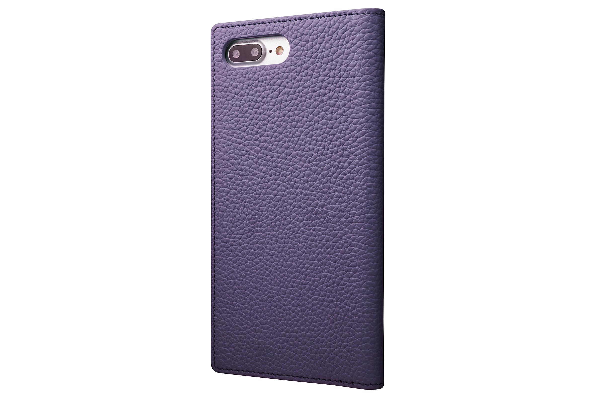 GRAMAS Shrunken-calf Full Leather Case for iPhone 7 Plus(Purple) シュランケンカーフ 手帳型フルレザーケース - 画像2