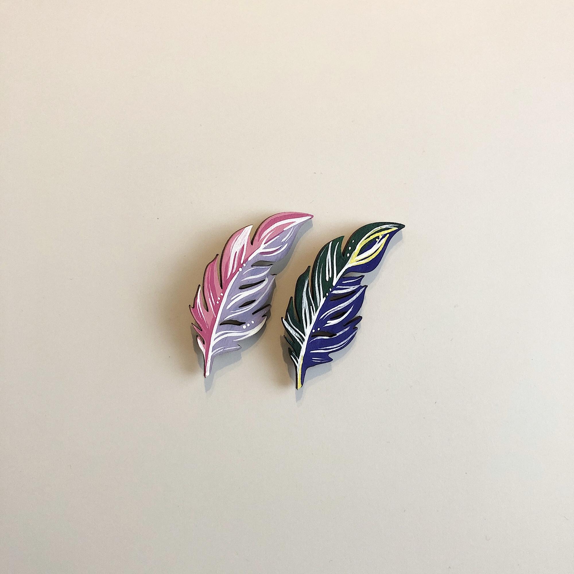樺の木ブローチ【羽】