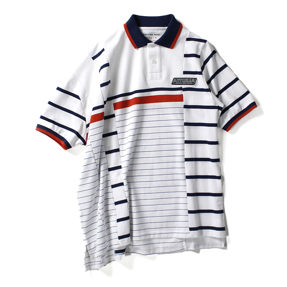 MARTINE ROSE Stripe Polo