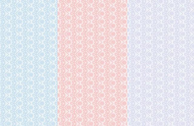 レース 3色セット A3【割引】(ポーセリンアート用転写紙)