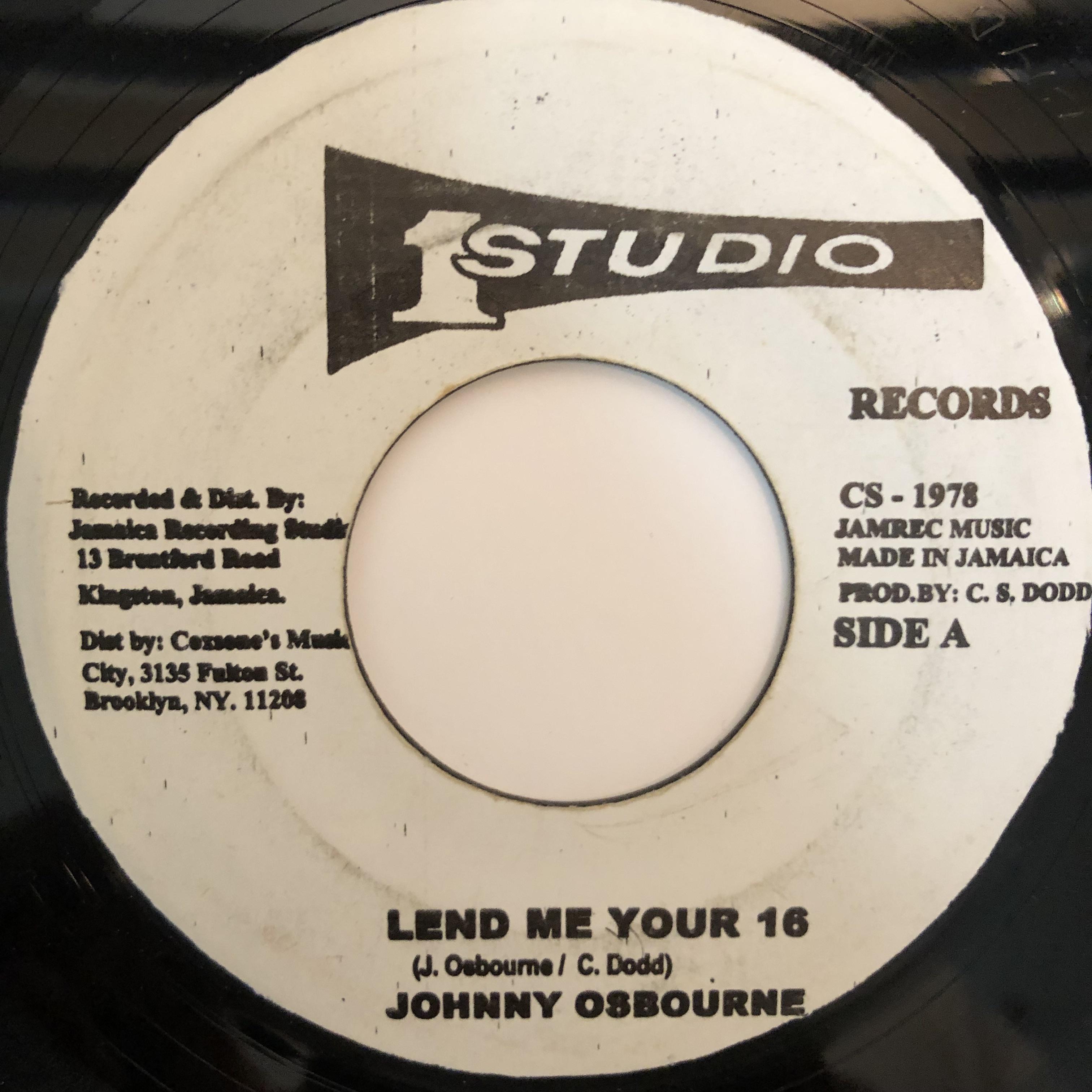 Johnny Osbourne - Lend Me Your 16【7-20328】