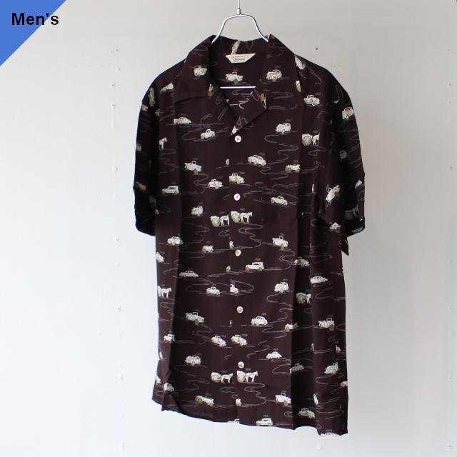 Orgueil オルゲイユ Aloha Shirt アロハシャツ OR-5046 ブラック