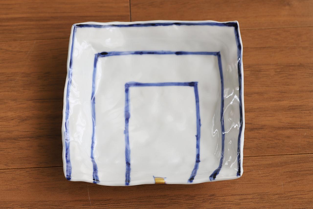 松尾貞一郎 4寸角取り皿 約12cm角 200519-K11 貞土窯(有田焼)