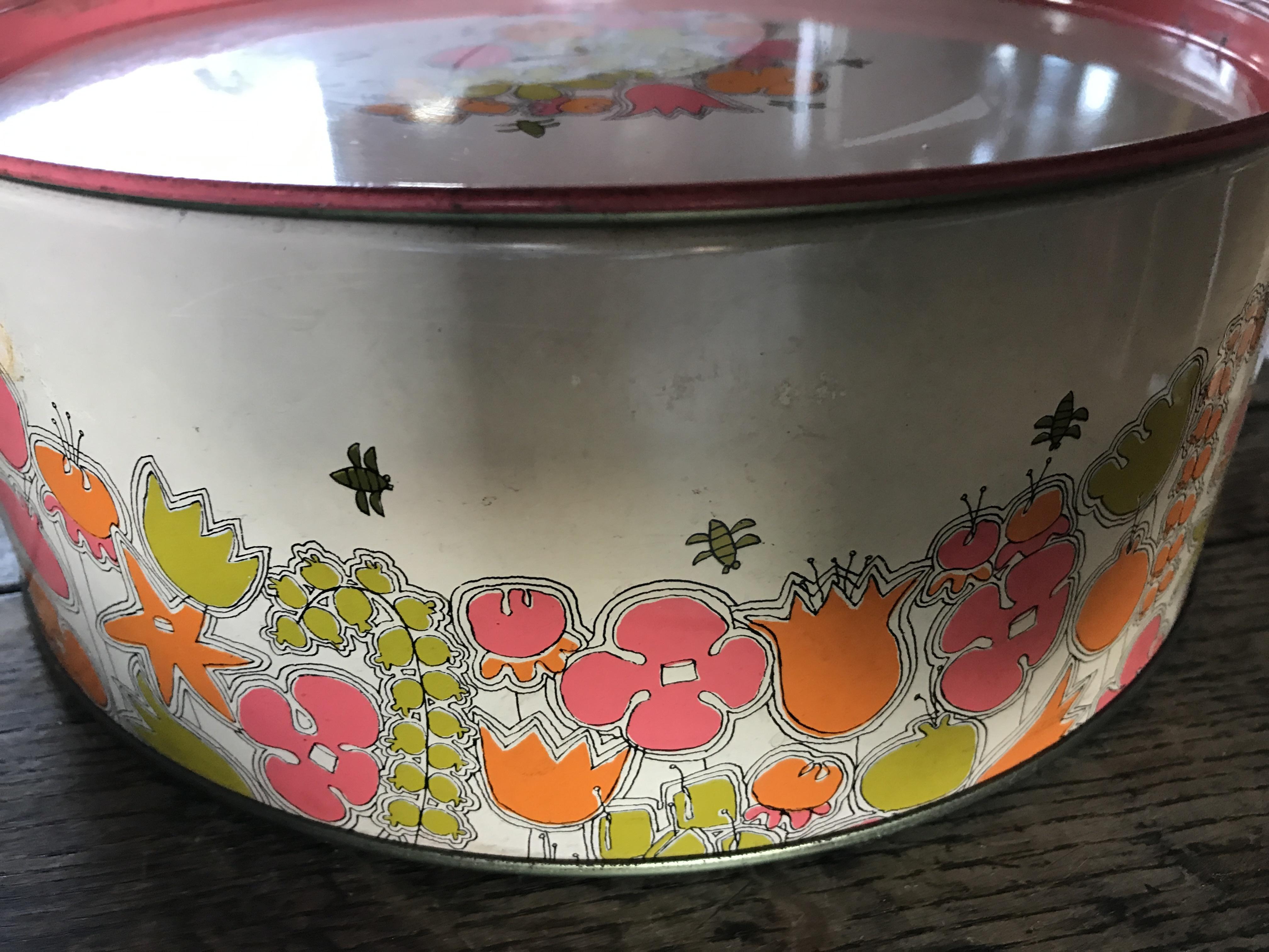 レトロ 丸い缶