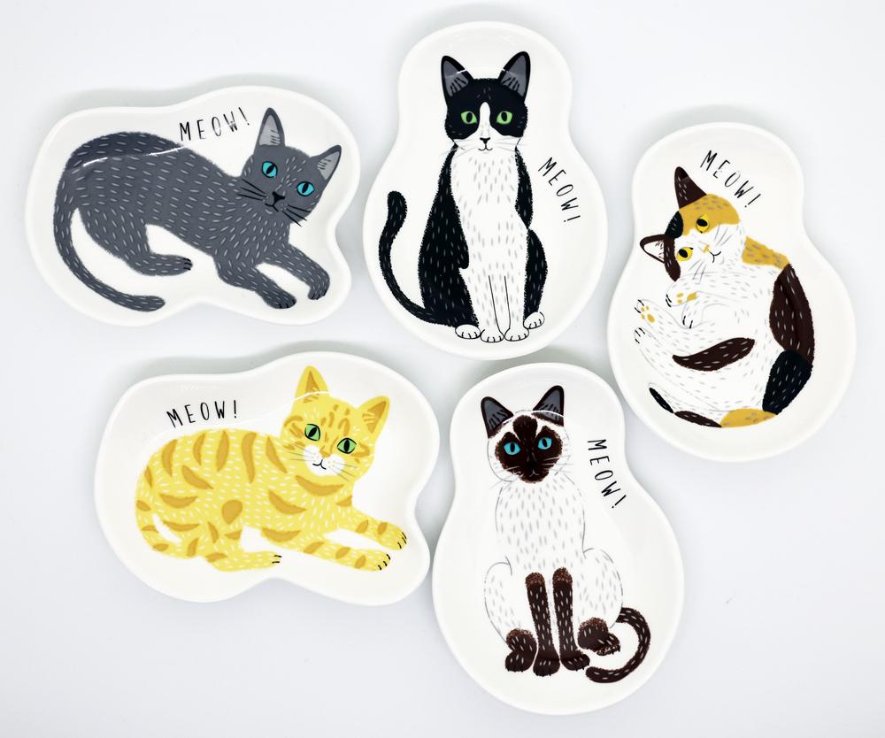 猫皿(ミャウミャウ小皿Sサイズ)