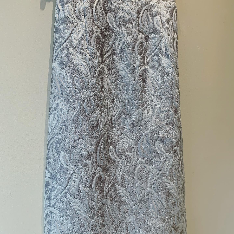 vintage Silver paisley skirt