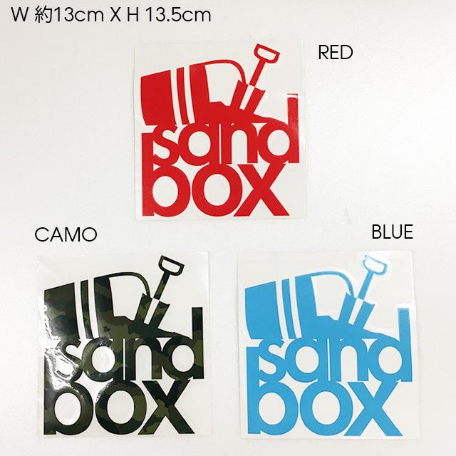 "SANDBOX カッティングステッカー 5""STACKS (RED / CAMO / BLUE)"
