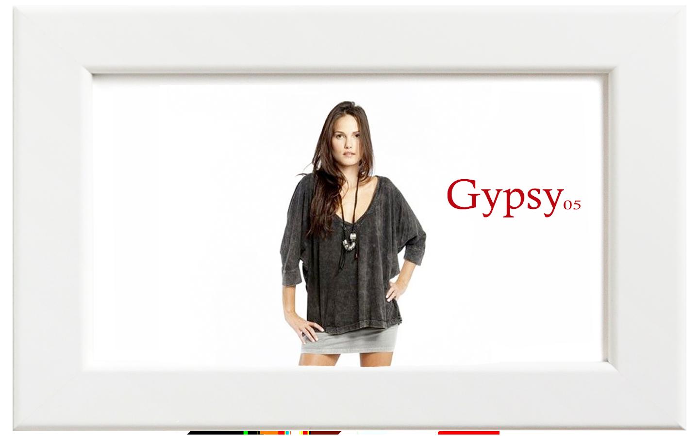 Gypsy05/ジプシー05 ShredsチュニックTシャツ