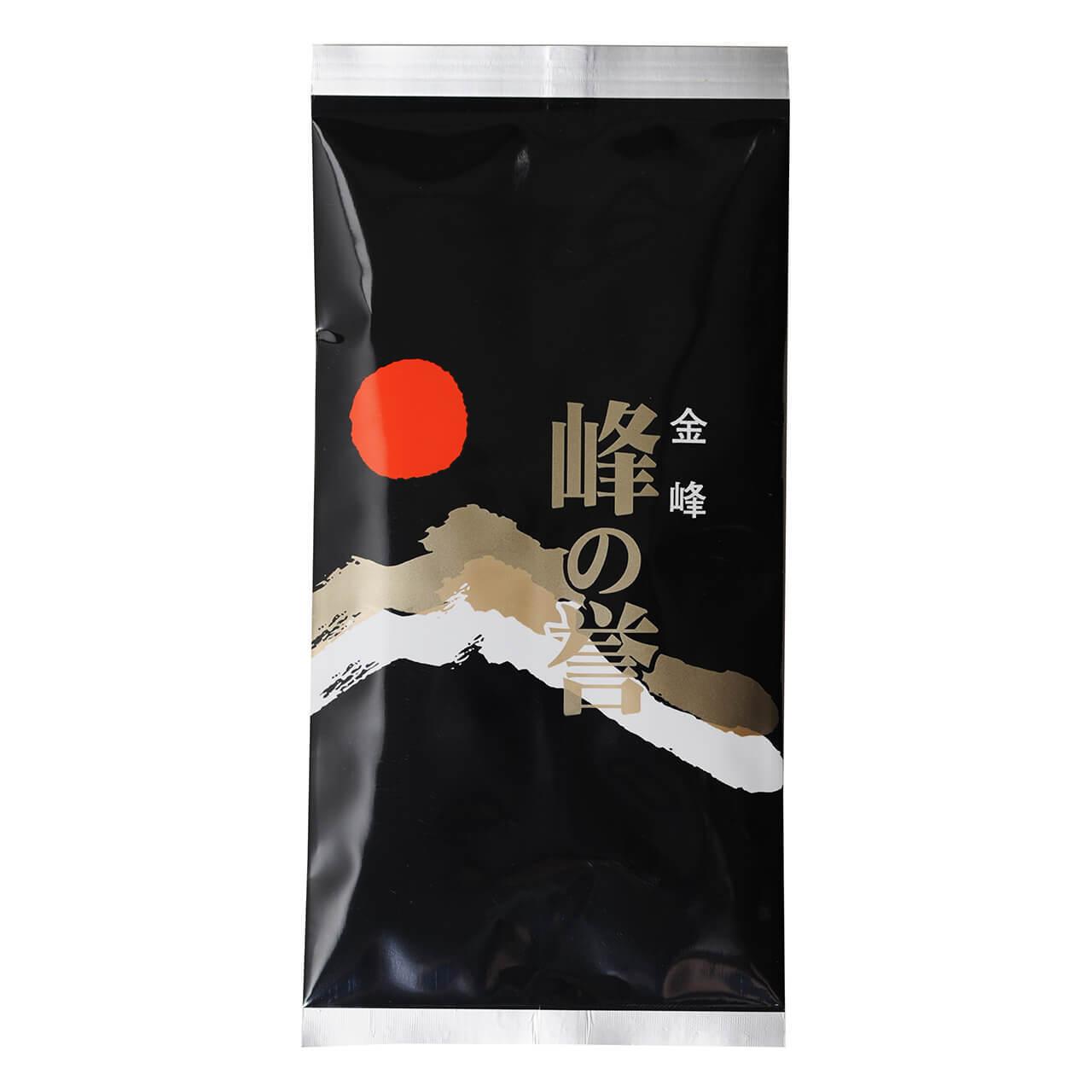 お茶 緑茶 お茶の葉 峰の誉 黒 100g 1袋 鹿児島 小牧緑峰園