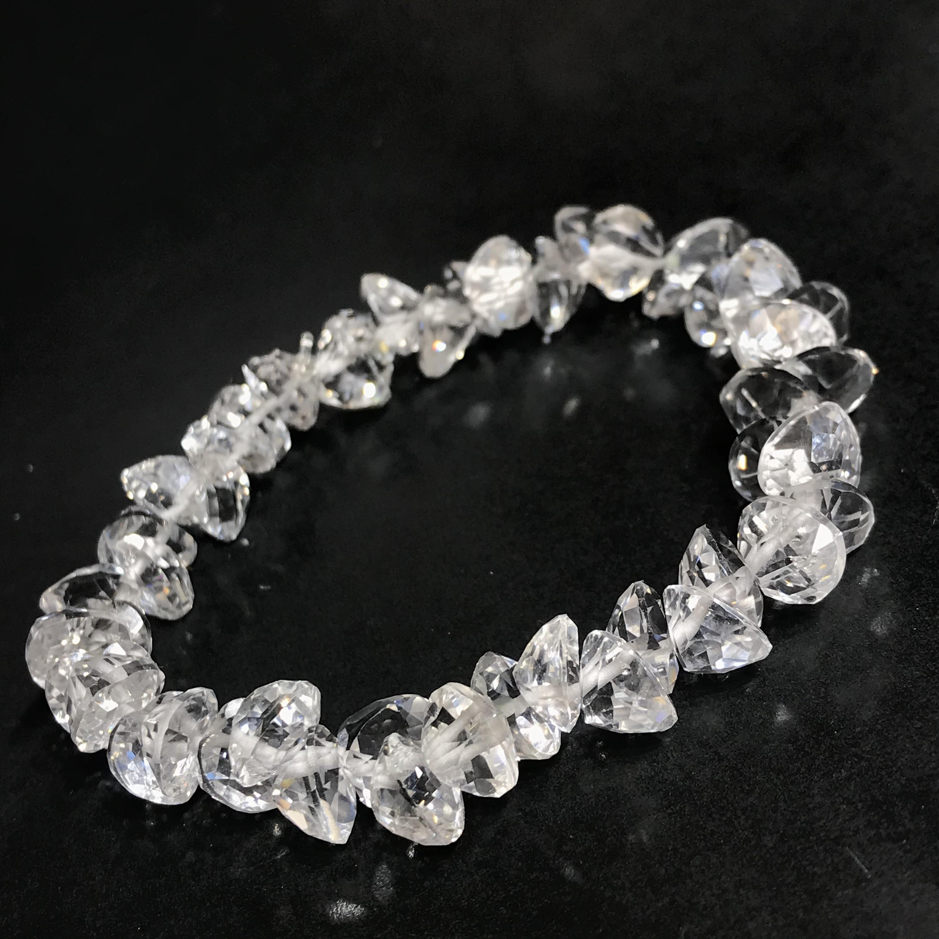 超高品質⭐︎水晶AAAAAハートのブリリアントカット☆ブレスレット