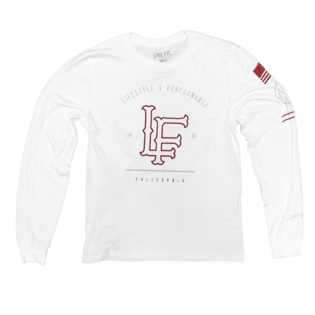 LIVE FIT California Long Sleeve- White