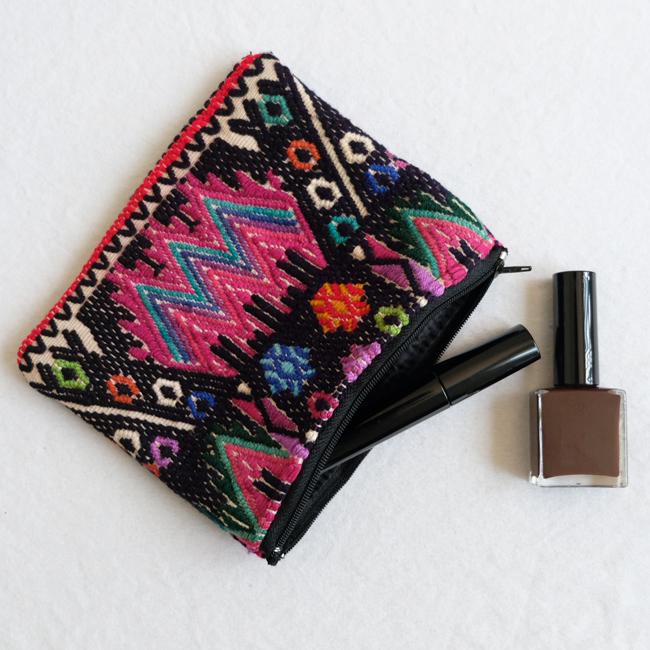 民族衣装の織りウィピルポーチ /231d/ GUATEMALA グアテマラ
