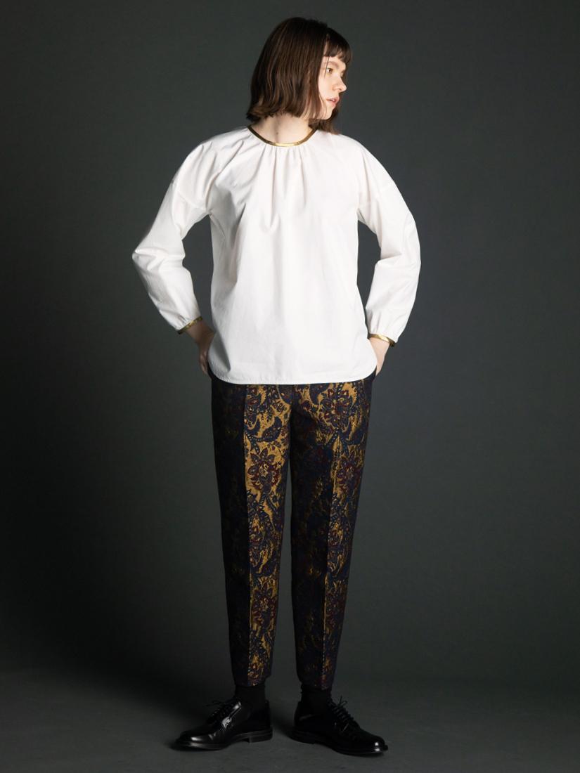 gold edging blouse