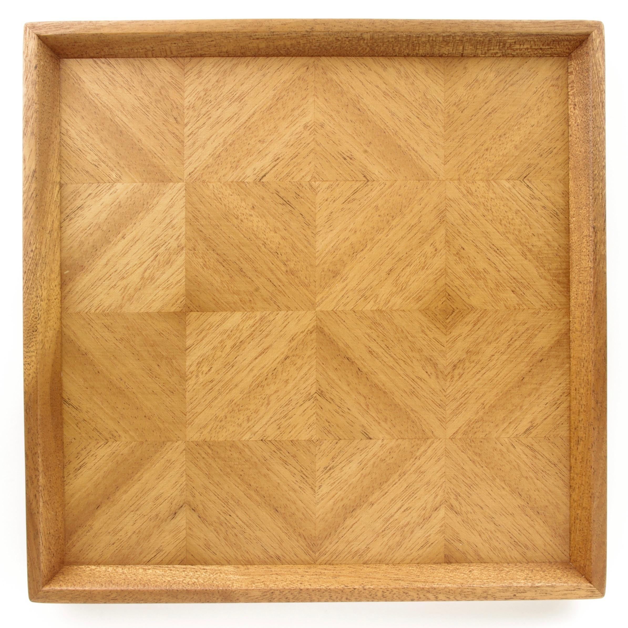 マホガニー 正方形のトレー 0021