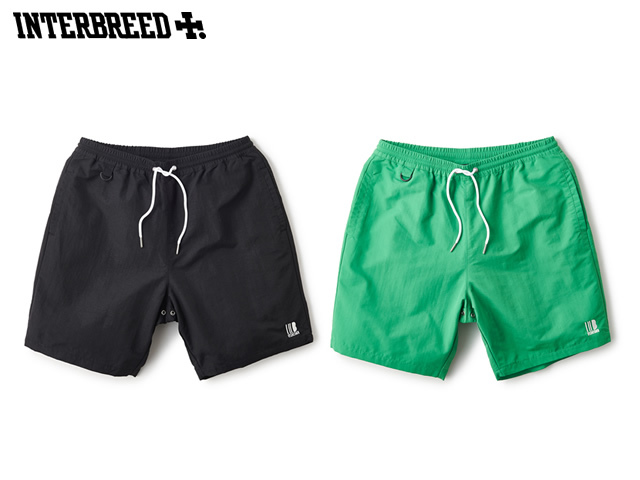 INTERBREED|SOLID NYLON BEACH SHORTS