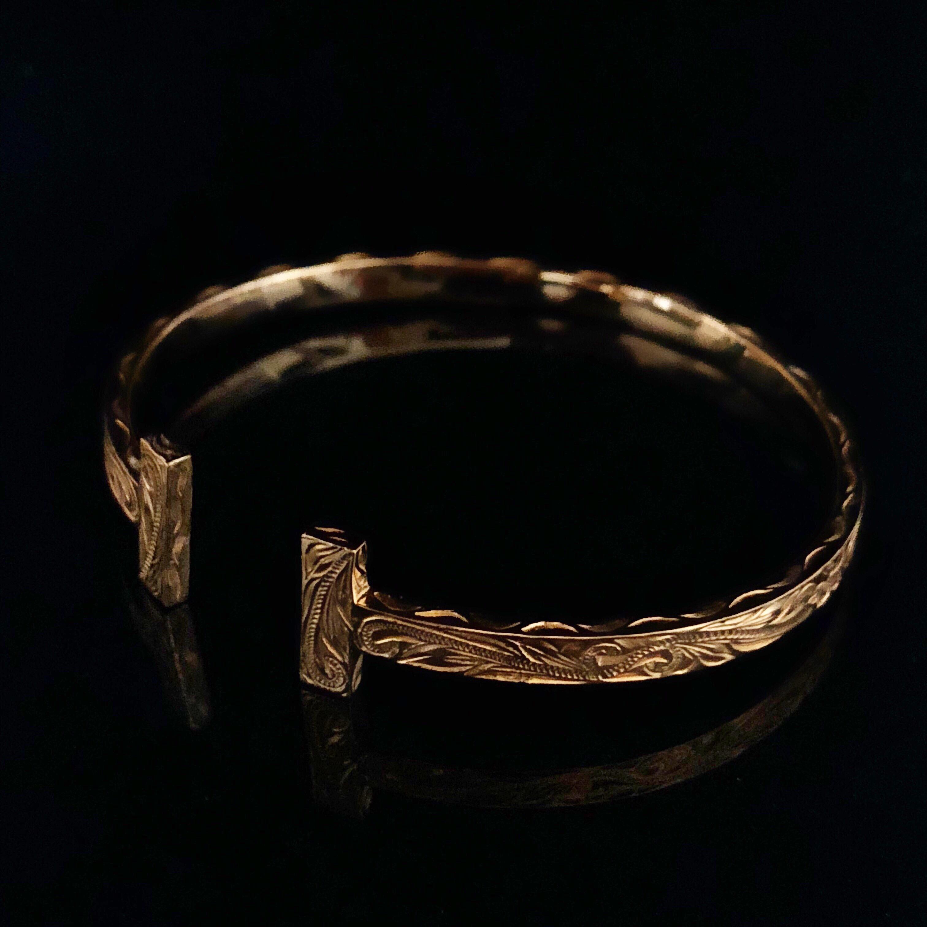 24kgp Hawaiian jewelry bangle(Tsquare)