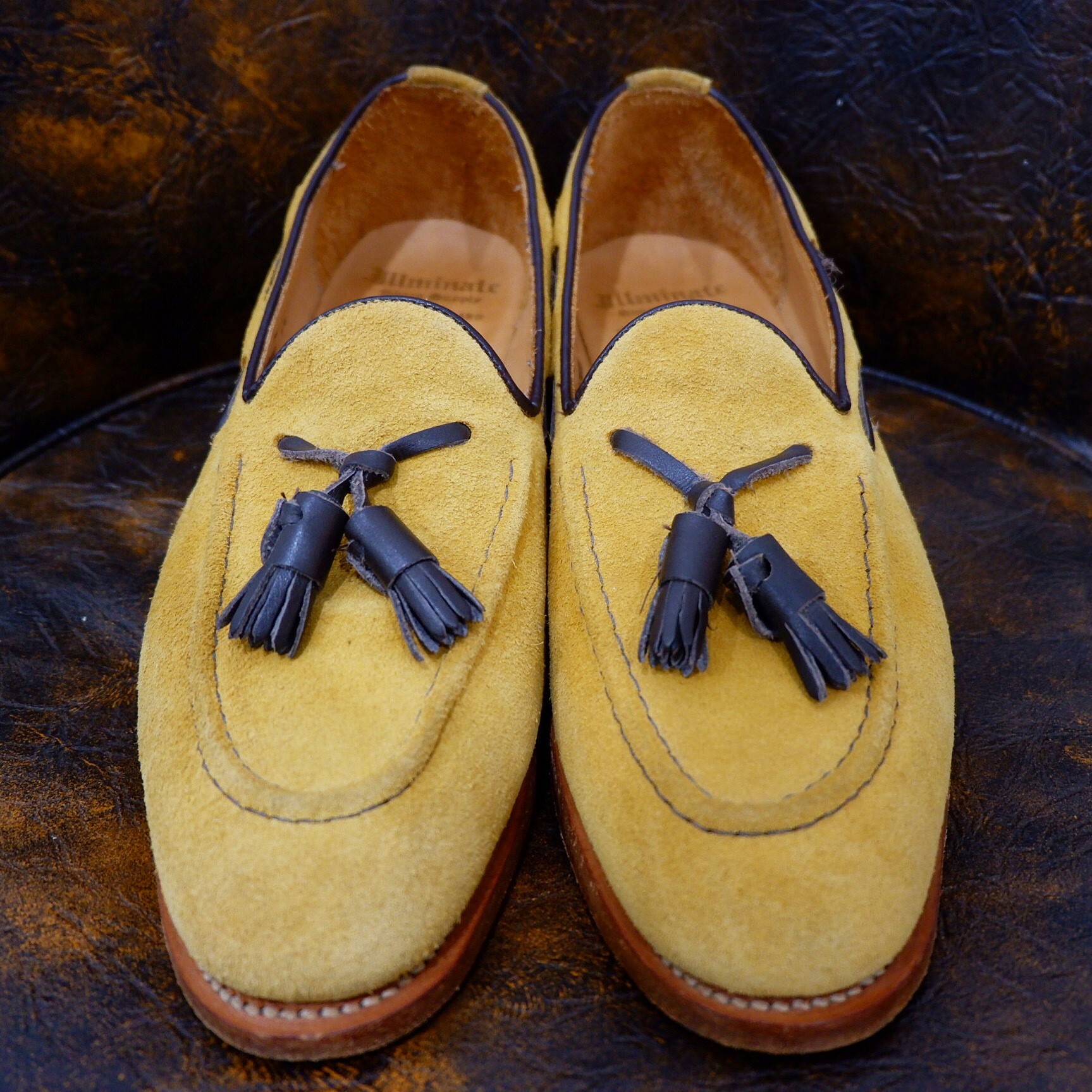 """England製 """"Illminate shoes supply"""" スエードレザー スリッポン"""