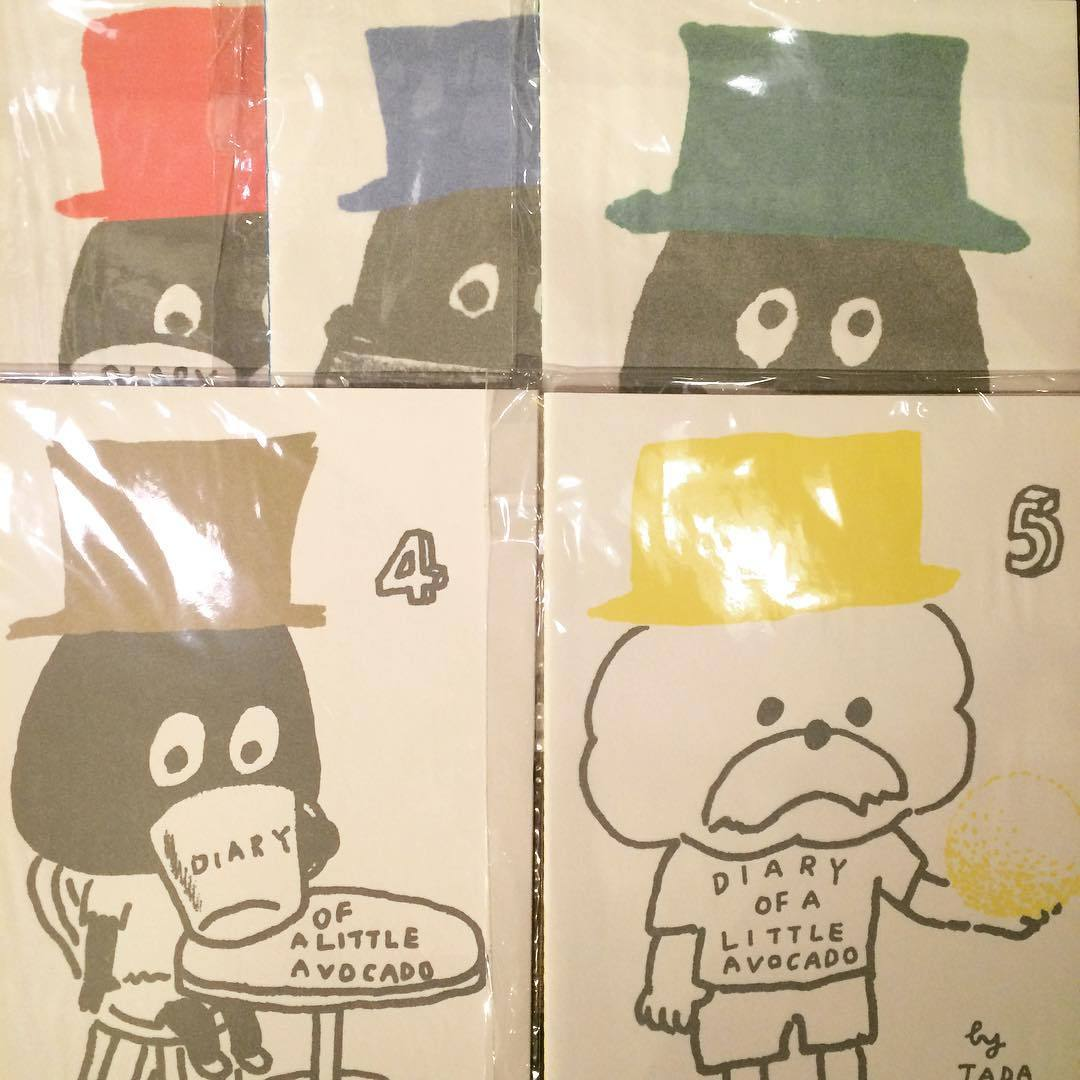ZINE「ちいさいアボカド日記/多田玲子 1~5 5冊セット」 - 画像1
