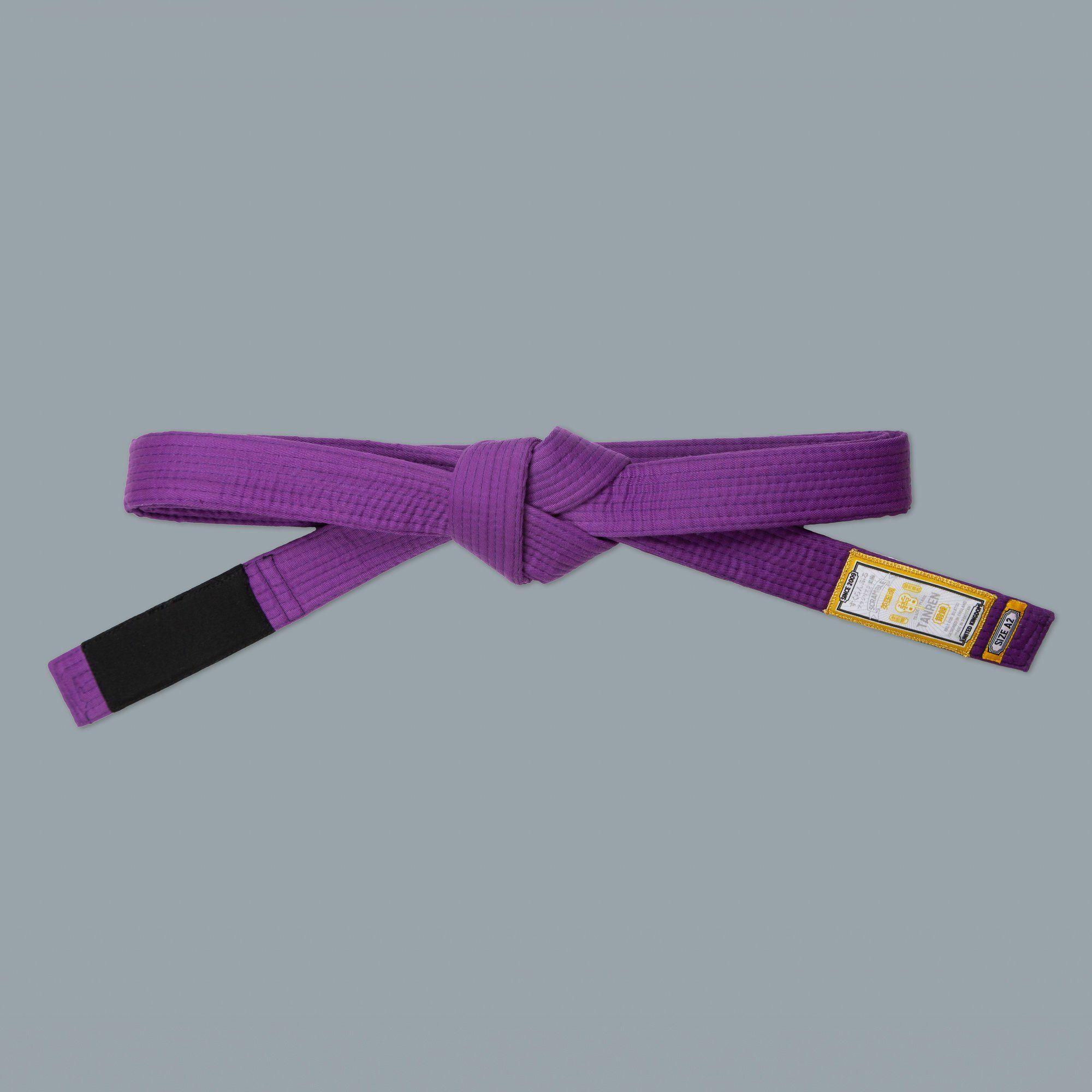 SCRAMBLE ブラジリアン柔術帯 TANREN V4 紫帯