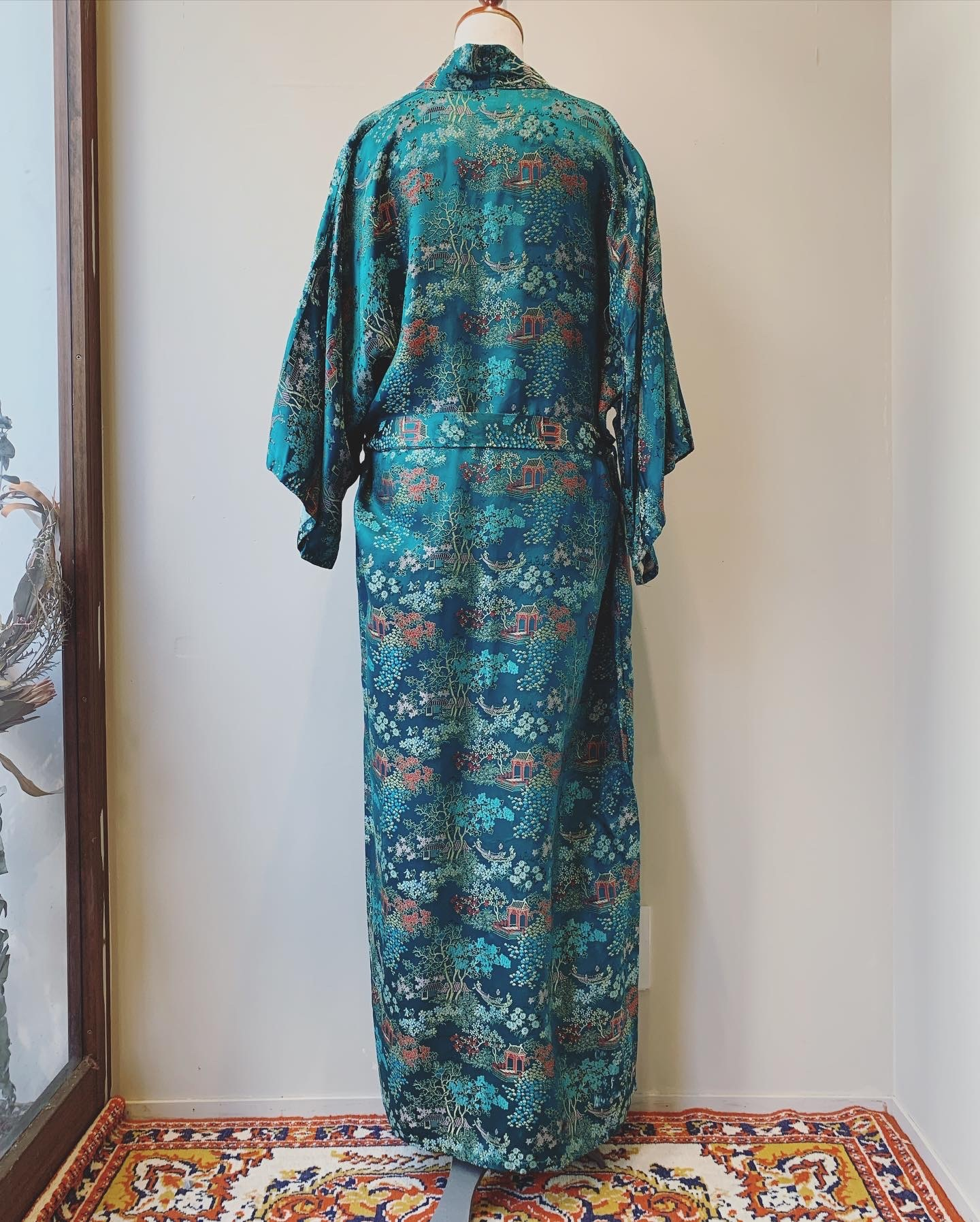 vintage china design gown