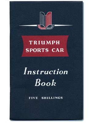 トライアンフ・スポーツ・カー・インストラクション・ブック (TR2)
