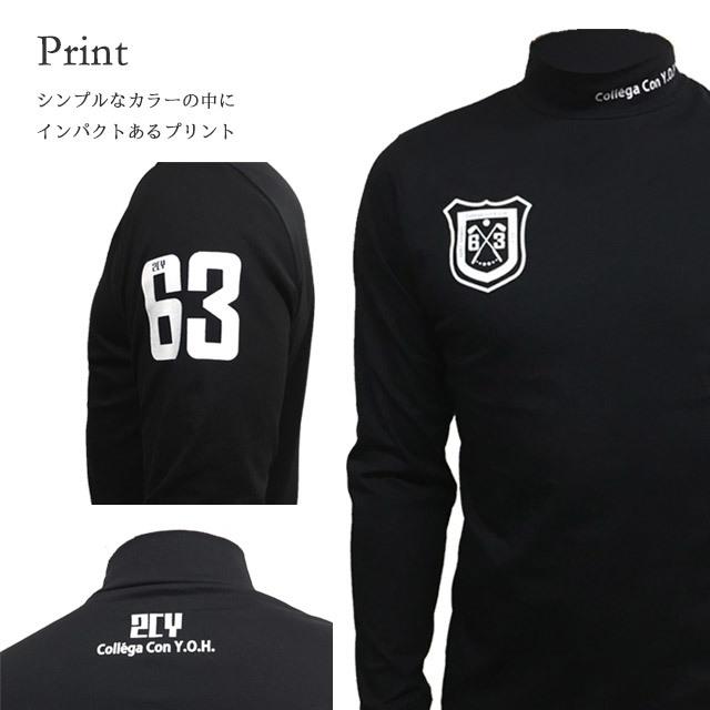 ゴルフプロ監修 プリント長袖シャツ【日本製】ブラック