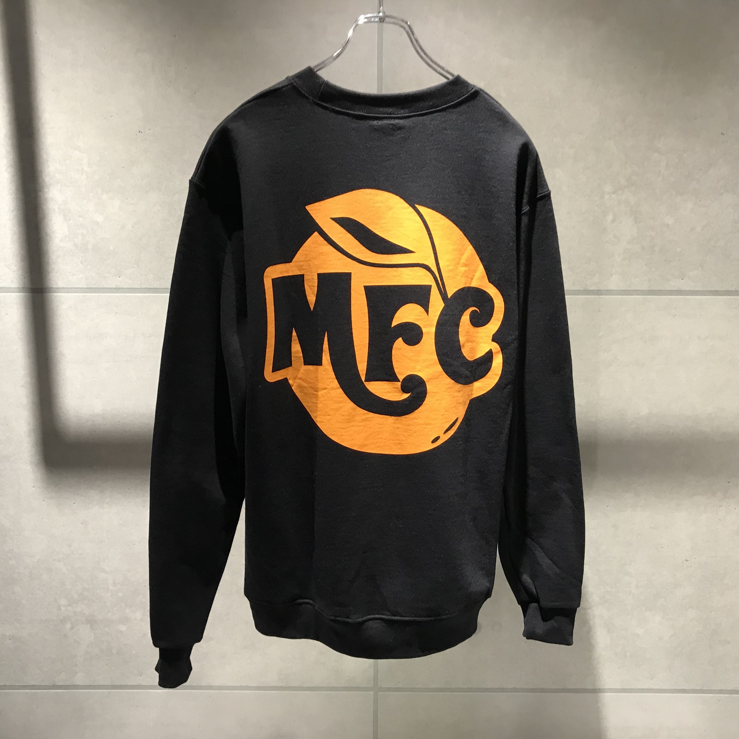 MFC STORE TYPE 8 CREWNECK SWEATSHIRT / BLACK x ORANGE