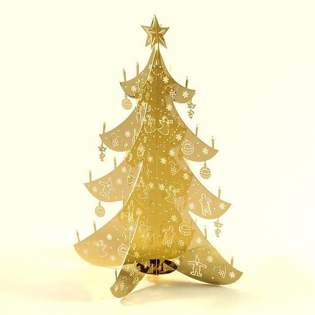Pluto produkter テーブル・クリスマスツリー ミニ ゴールド