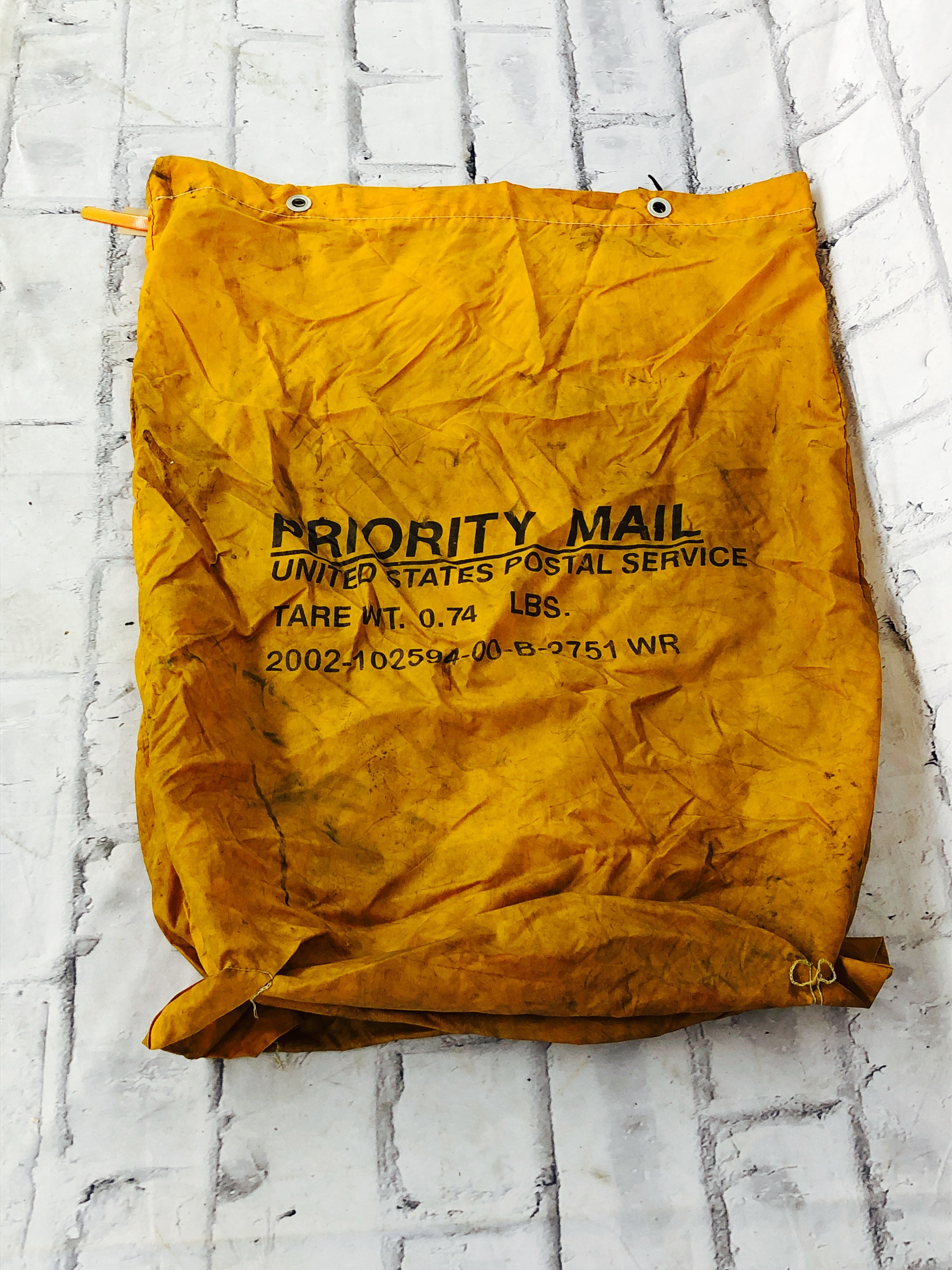 品番5872 PRIORITY MAIL BAG U.S.ポスト袋 メールバッグ オレンジ ヴィンテージ