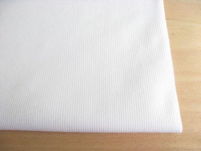 J&B定番 綿40スパン・リブ スノーホワイト(真っ白) NTM-2618