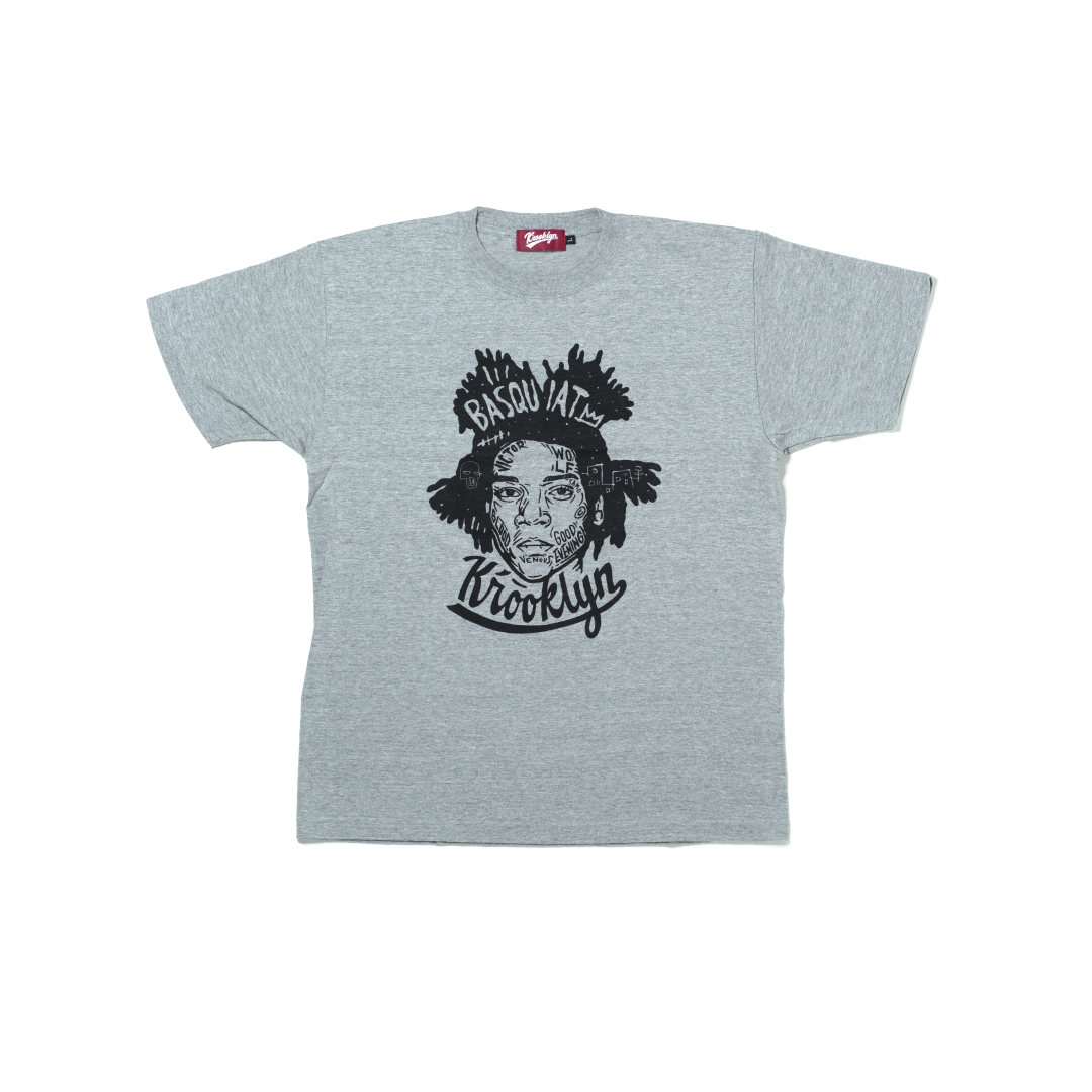 K'rooklyn T-Shirt × 上岡 拓也 - Gray (BASQUIAT)