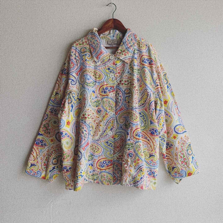 vintage colorfu paisley design jacket
