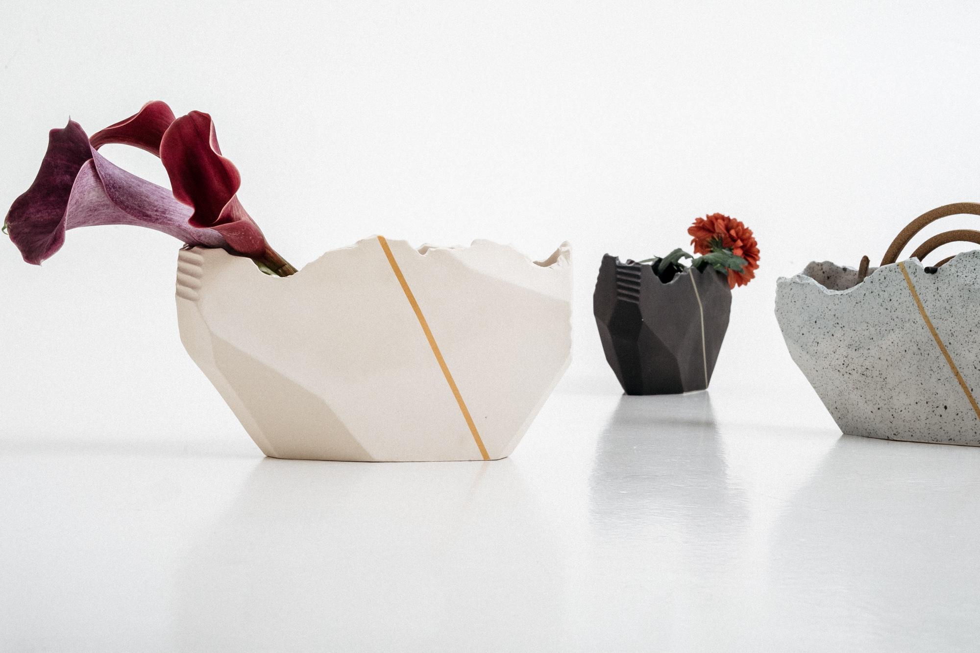 花と香立て -白亜/サガン/鐵- ※3パターン選択